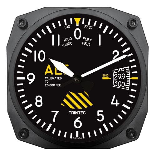 "6"" 30th Anniversary Altimeter Instrument Style Clock"
