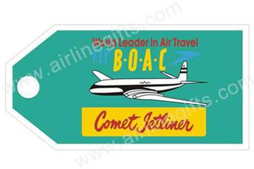 BOAC Retro Luggage Tag