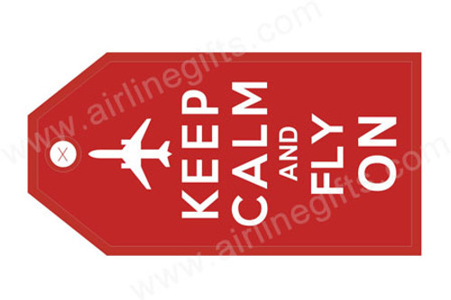 Keep calm & Fly on Luggage Tag