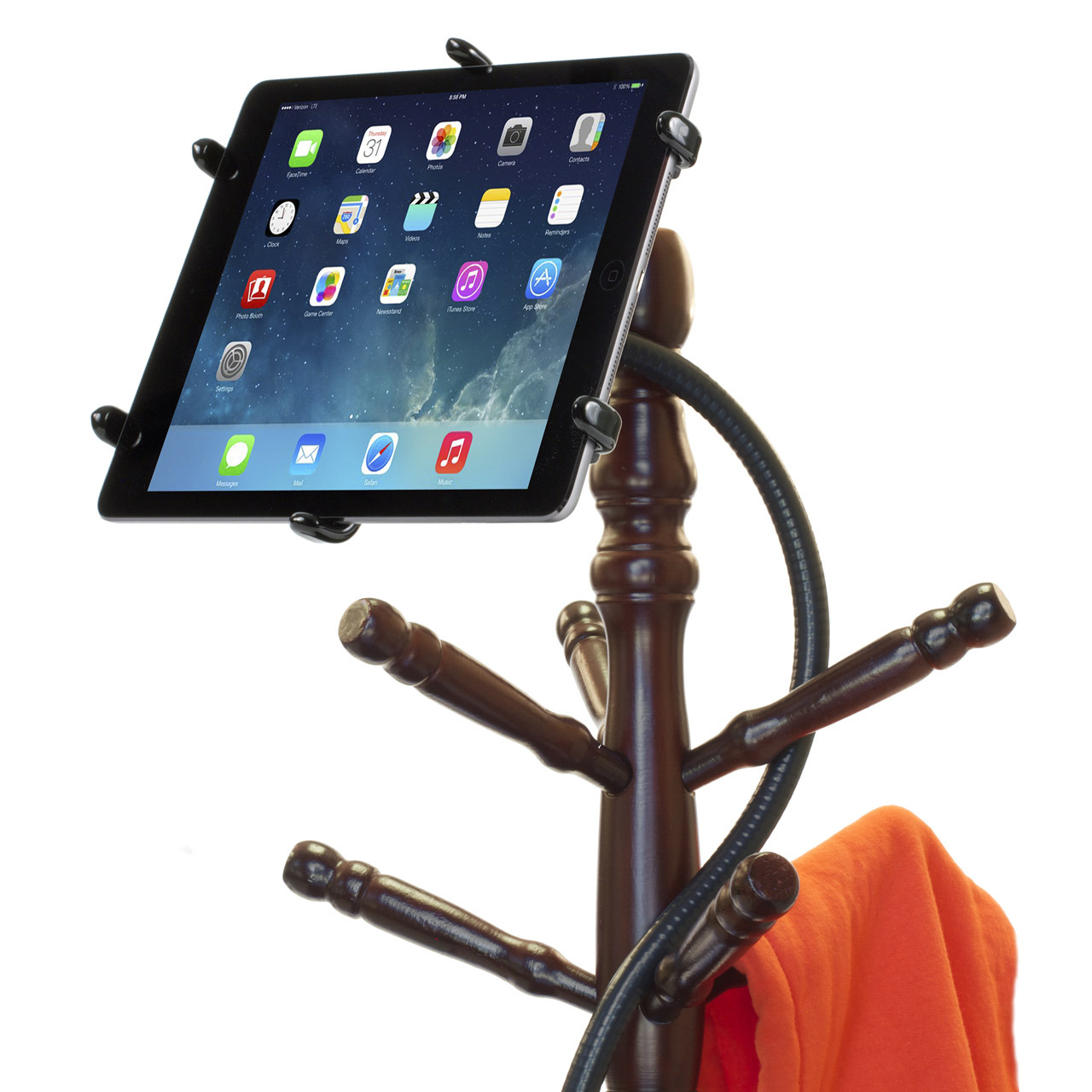 PED4-Coil IPA10 iPad Stand Flexible Gooseneck & Pivoting Holder
