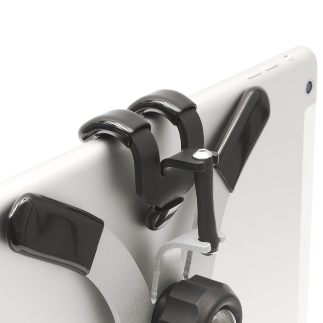 Grapple S4 shown with short strap on iPad Air for landscape position