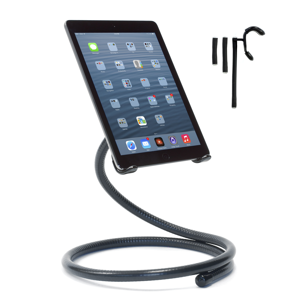 Flexible iPad Stand with included Grapple S3 Strap (S4 Strap is now included, one extra strap)