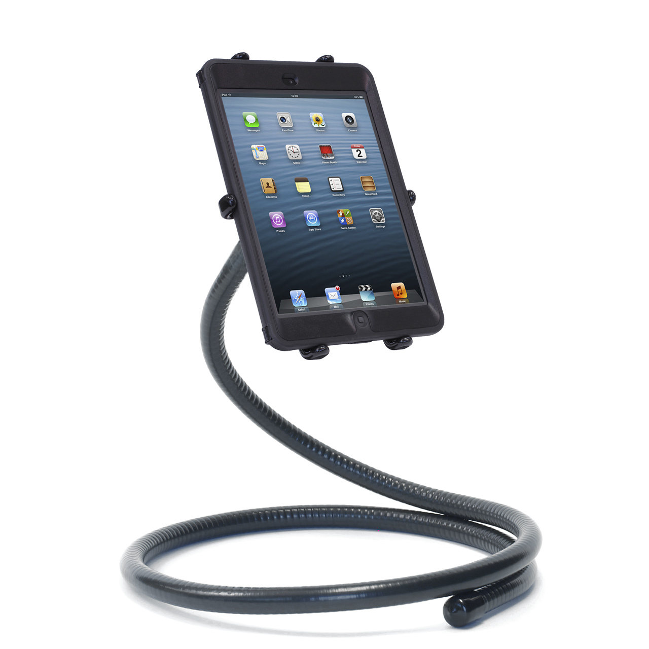 PED4-Coil IPM10 iPad mini Stand Flexible Gooseneck & Pivoting Holder