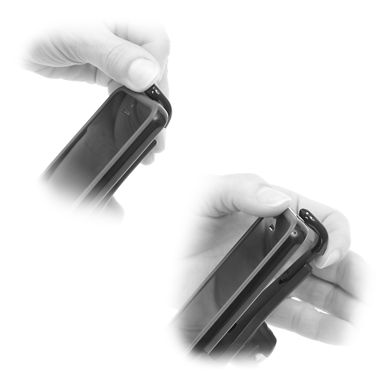 Once configured the Alloy Fingers allow just the right amount of grip for easy in, and easy out of the holder functionality.