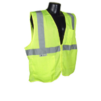 Class 2 Safety Vest Zipper Front W/Pockets