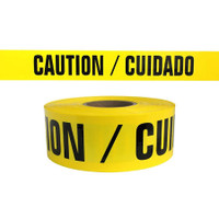 Caution Tape 2.4 mil 1000ft roll English/Spanish