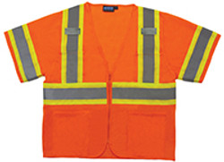 ERB Class 3 Safety Vest  Two Tone W/Mic Tabs  Medium