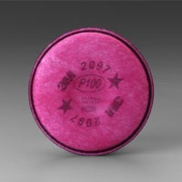 3M 2097 P100/OV FILTER FOR USE 3M 6200 6800 7502 1 PAIR