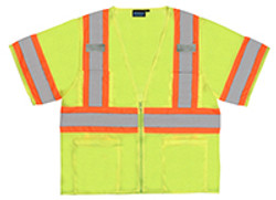 Class 3 Safety Vest  Two Tone W/Mic Tabs 5XL