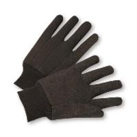 Brown Jersey gloves 100% Cotton 300ct case (25DZ)