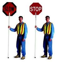 "Traffic Paddle Set 24"" Stop/Slow - High Intensity Prismatic HIP"