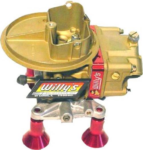 Willy's 500 CFM Gas Carb w/ Ext Adj Block