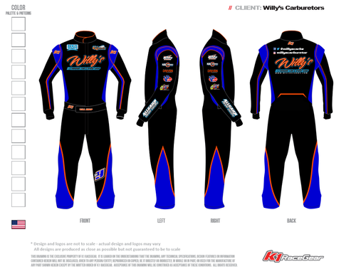 Willy's K1 RaceGear Driving Suits