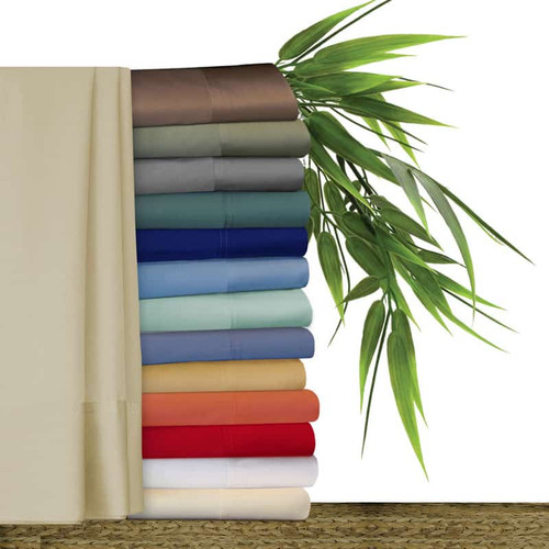 Original Bliss 100% bamboo sheet sets. Sets include; one fitted sheet, one flat sheet and two pillow cases. Available in 14 colors and 7 sizes. Colors include; peacock green, regal blue, cool blue, silver seafoam, forget me not blue, butterscotch, coral, real red, snow white, french vanilla, khaki linen, mocha brown, sage green and pewter gray. Available in sizes; twin, extra long twin, full/double, queen, king california king and split king