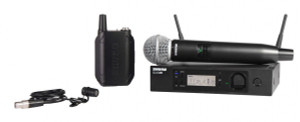 ShureGLXD124R/85Handheld and Lavalier Combo Wireless System