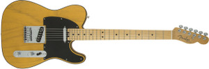 Fender	American Elite Telecaster Single Cutaway SS Electric Guitar in Butterscotch Blonde Finish with Ash Body and Maple Fingerboard