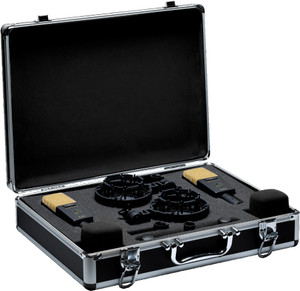 AKG C414 XLII Stereo Matched Stereo Pair of Multi-Pattern Condenser Microphones with Case and Accessories