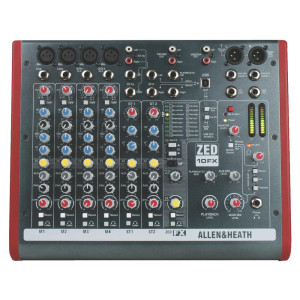 Allen & Heath ZED10FX Mixing Console with USB Port and Digital Effects, 4 Mono Channels, 2 Stereo Channels