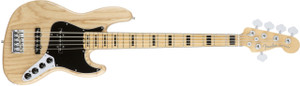 Fender American Elite Jazz Bass V Jazz Bass Guitar with Ash Body and Maple Fingerboard