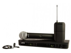 Shure BLX1288/CVL Dual Channel Combo Wireless System with PG8 Handheld and CVL Lavalier Microphones
