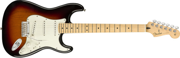 FenderPlayer Stratocaster Electric Guitar with Maple Fingerboard-3 tone sumburst