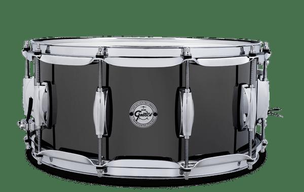 Gretsch Black Nickel over Steel Snare Drum 6.5x14
