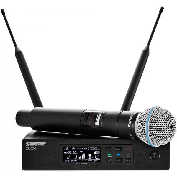 Shure  QLXD24/B87A Handheld Wireless System (BETA 97A Mic, Supercardioid)