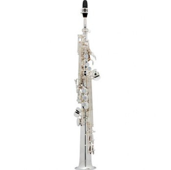 To celebrate it's 125th anniversary Selmer has introduced the Jubilee line of Saxophones. These saxophones carry on the tradition of Series II and Series III saxophones with added benefits such as a lighter touch on the newly designed octave key as well as a lighter engraving with Henri Selmer's signature on the bell ring.  Silver Finsh