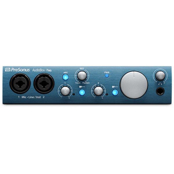 PreSonus AudioBox iTwo 2x2 USB/iPad Recording Interface with MIDI I/O