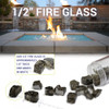 "1/2"" Reflective Fire Glass size chart"