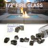 "1/2"" Classic Fire Glass size chart"