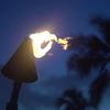 Black Cone Tiki at night