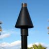 Black Cone Tiki Torch