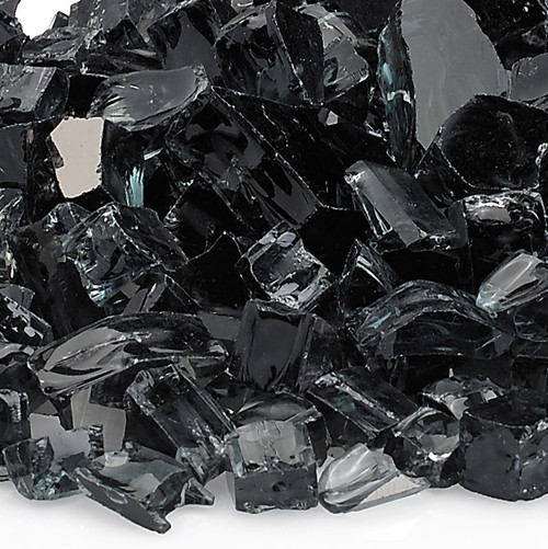 "1/2"" Black Reflective Fire Glass"