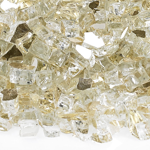 """1/2"""" Gold Reflective Fire Glass"""