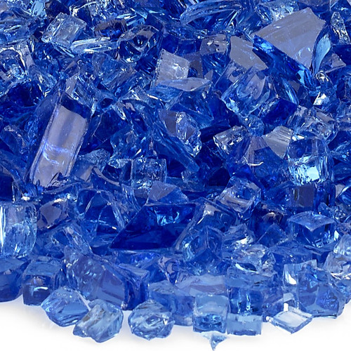 """1/4"""" Cobalt Blue Fire Glass"""