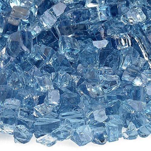 """1/4"""" Pacific Blue Fire Glass"""