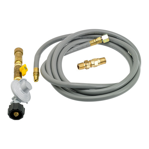 Fire Pit Propane Installation Kit with 12' Hose and Quick-Connect