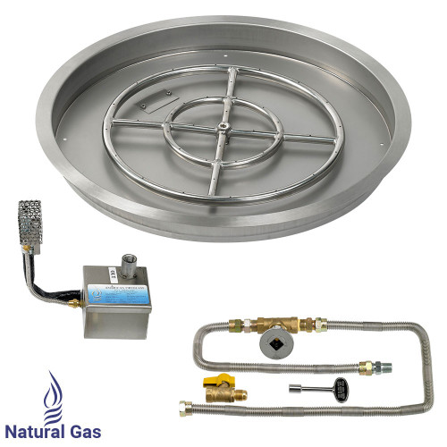 """25"""" Round Drop-In Pan with AWEIS System (18"""" Fire Pit Ring)"""