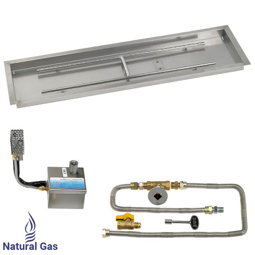 "48"" x 14"" Rectangular Stainless Steel Drop-In Pan with AWEIS System - Natural Gas"