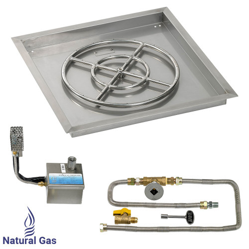 """24"""" Square Stainless Steel Drop-In Pan with AWEIS System (18"""" Ring)"""