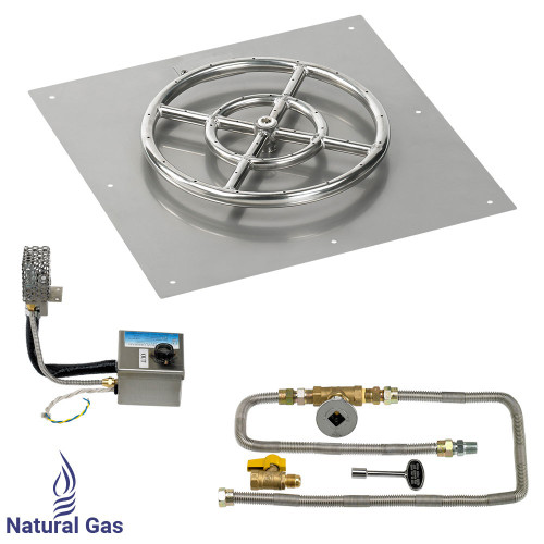 """18"""" Square Stainless Steel Flat Pan with AWEIS System (12"""" Ring)"""