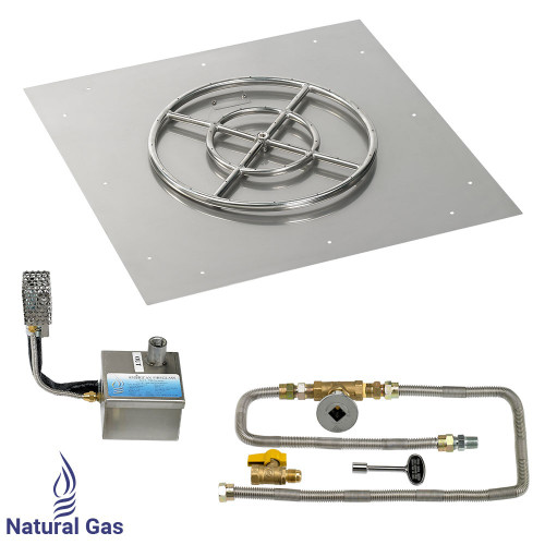 """30"""" Square Stainless Steel Flat Pan with AWEIS System (18"""" Ring)"""