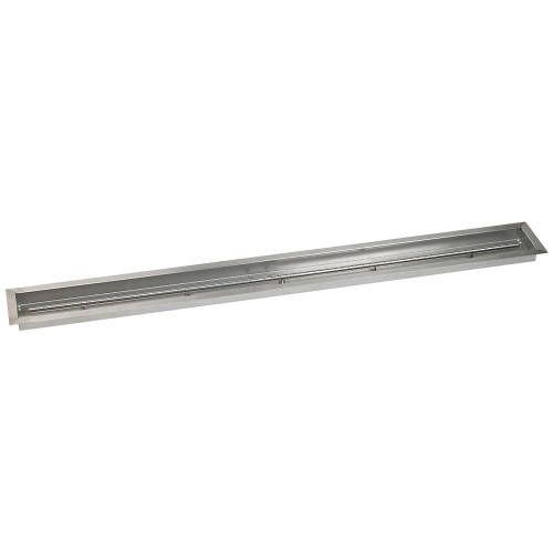 "72"" x 6"" Stainless Steel Linear Drop-In Pan Side"