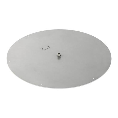 "36"" Round Stainless Steel Flat Pan (1/2"" Nipple) side"