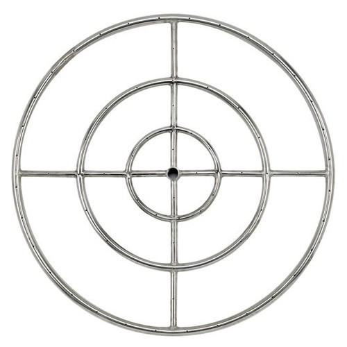 "30"" Triple-Ring Stainless Steel Burner with a 3/4"" Inlet"