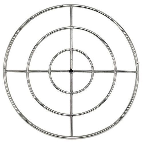 "36"" Triple-Ring Stainless Steel Burner with a 3/4"" Inlet"