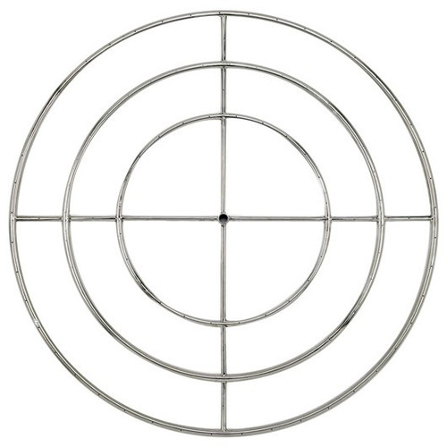 "48"" Triple-Ring Stainless Steel Burner with a 3/4"" Inlet"