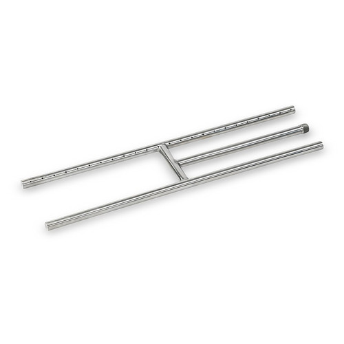 "24"" x 6"" Stainless Steel H-Style Burner - Natural Gas"