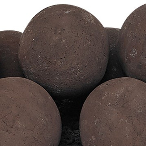 Cherry Bark Lite Stone Ball Set - Uniform 4""